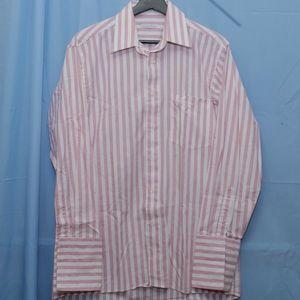 Christian Dior Pink Stripe Button Up